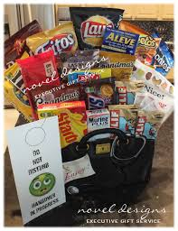 gift baskets delivery custom hangover snack gift basket designed to your