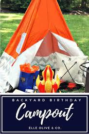 backyard birthday campout u0026 s u0027mores favor elle olive u0026 co