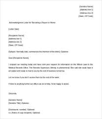 Acknowledgement Letter Request 32 acknowledgement letter templates free sles exles format