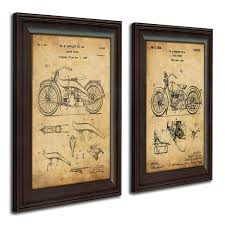 fly fishing home decor amazon com harley davidson patent prints framed behind glass