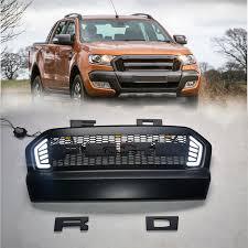 Preferidos PARA 2015 2016 2017 ford ranger ABS grille com LED preto grade  &CG35