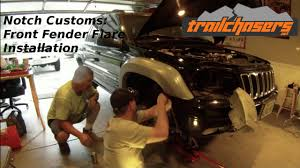 jeep liberty fender flare trailchasers front fender flare install 031915