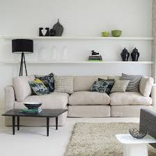 living room wall shelves living room floating shelves impressive with photo of wall idea 17
