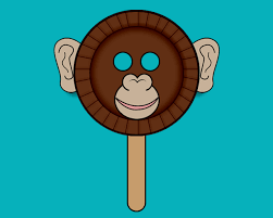 Monkey Paper Plate Craft - arts crafts ideas and activities for families