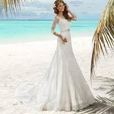 hippie wedding dresses new arrival mermaid lace wedding dress 3 4 sleeves 2017
