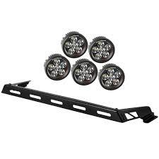 Led Fog Light Bar by Rugged Ridge 11232 07 Jeep Wrangler Jk Hood Light Bar Kit Led 07 18