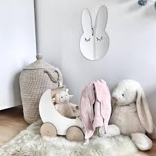 Bunny Nursery Decor Nordic Scandinavia Style Nursery Decor Mirror Signs Room