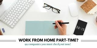 companies offering part time work at home