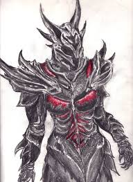 drawn armor daedric pencil and in color drawn armor daedric