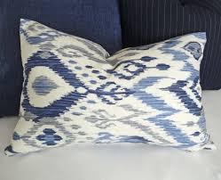 design house decor etsy blue ikat lumbar pillows blue decorative pillows blue white