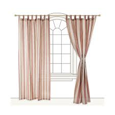 Striped Linen Curtains Formosa Linen Curtain Red Brown And Natural Striped