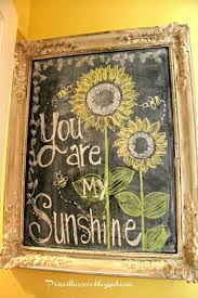 226 best sunflowers images on pinterest sunflowers kitchen and priscillas august sunflower chalkboard
