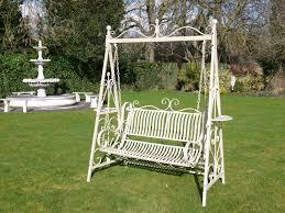 antique cream 2 seater garden metal swing bench the somerset