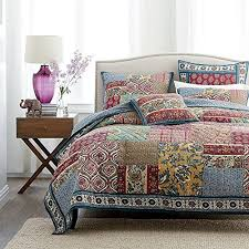 Quilt Comforter Set Dada Bedding Collection Reversible Bohemian Real Patchwork Cotton