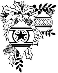snowflake christmas ornament clipart black and white clip art