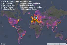 Monte Carlo Map The Most Photographed Places In The World Mental Floss