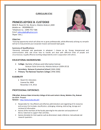 Examples Of Resumes by Simple Job Resume Examples Resume For Your Job Application