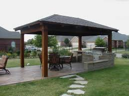 Outdoor Bar Plans by Painting Of Outdoor Pavilion Plans That Offer A Pleasant Relaxing