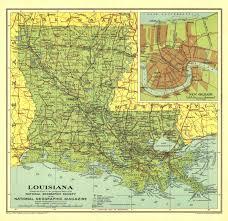 louisiana geographical map national geographic louisiana map 1930 maps