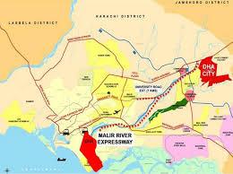 map of karachi dha city karachi location map