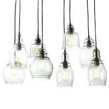 Small Pendant Light Shades 3 Light Glass Shade Multi Pendant For Living Room Inside