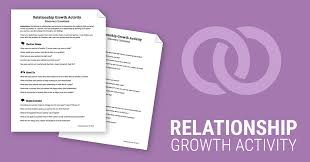 relationship growth activity worksheet therapist aid