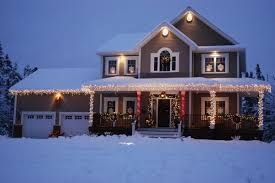 Wonderful Exle Of Christmas Lighting For Two Story House With