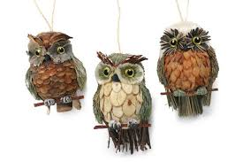 owl ornaments gl owl ornaments pine cone owl ornaments to make