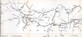 Map Of Pennsylvania Turnpike by Pennsylvania Turnpike 1948