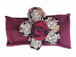 burgundy headband maggie mountain flowers collection earth flower burgundy headband