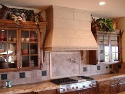 Decorative Glass Kitchen Cabinets Ideas U0026 Tips Modern Kitchen With Decorative Range Hoods And Tile