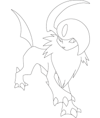 absol coloring free printable coloring pages