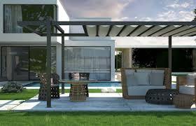self supporting pergola aluminum pvc fabric sliding canopy