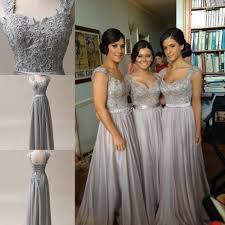 silver bridesmaid dresses silver grey chiffon corset bridesmaids dress wedding bridal