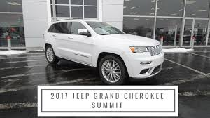 old white jeep cherokee 2017 jeep grand cherokee summit features and benefits at anderson