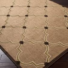 Woven Outdoor Rugs Woven Tan Bernardino Indoor Outdoor Moroccan Lattice Rug 5 U0027 X 7 U00276