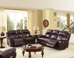 3 Pc Living Room Set Warner Wine Power Motion Dual Recliner 3pc Living Room Sets