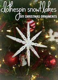 diy ornaments clothespin snowflakes kristen hewitt