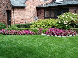 flower bed ideas front house simple landscape with cheap home