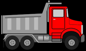 sketch picture outline semi truck flatbed trailer clipart drawing