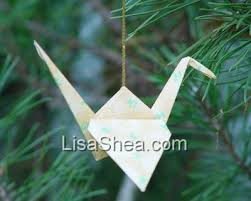 hanging crane origami handmade origami