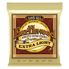 Light Guitar Strings by Earthwood 80 20 Bronze Acoustic Guitar Strings Ernie Ball