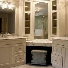 Bathroom Vanity With Makeup Station Double Bathroom Corner Vanity With Makeup Station Google Search