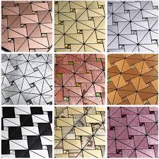 SelfAdhesive Peel And Stick Backsplash Tile Triangle Silver - Self sticking backsplash