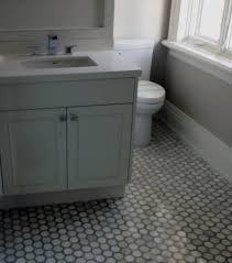 Neutral Bathroom Ideas Minimalistic Neutral Bathroom With Patterned Floor Tiling