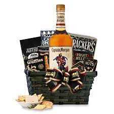 liquor gift baskets buy captain rum gift basket online