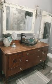Pinterest Country Decor Diy by Kohler Vessel Sink Antique Buffet Buffet Bathroom Vanity