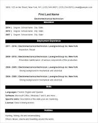 The Best Resume Format For Freshers by Basic Resume Template U2013 51 Free Samples Examples Format