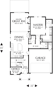 garage office plans craftsman style house plan 4 beds 2 50 baths 2158 sq ft plan 48 644
