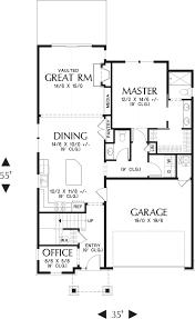 Garage Office Plans Craftsman Style House Plan 4 Beds 2 50 Baths 2158 Sq Ft Plan 48 644